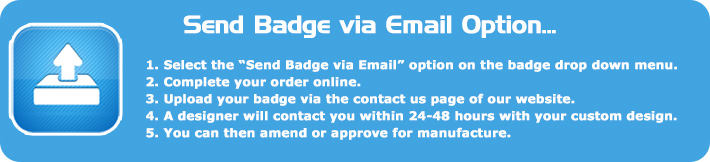 Upload badge to number plates